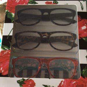 New Betsey Johnson set 3 Reading Glasses 1.50